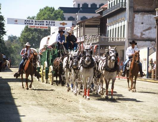 Sacramento, Calif., where each Labor Day weekend the old city celebrates Gold Rush Days and transforms into a Wild West scene form the 1850s.