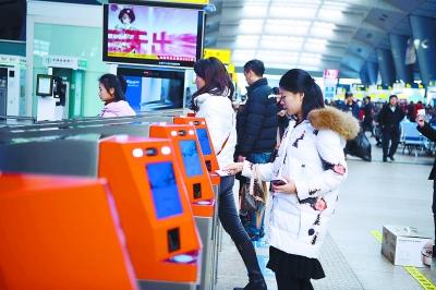 北京各大火车站电子客票刷身份证进站三秒通关