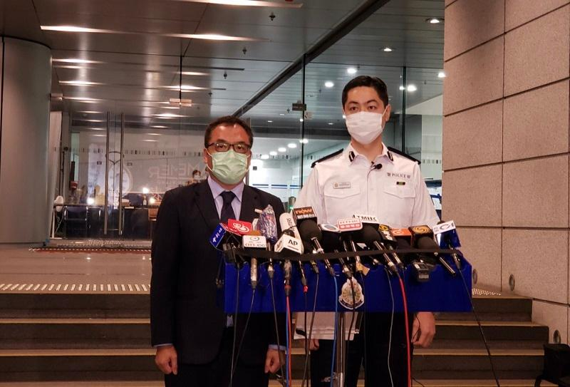 男子 香港警方至今拘捕十人 涉违反《港区国安法》及串谋诈骗 其中涉及多名香港媒体高层