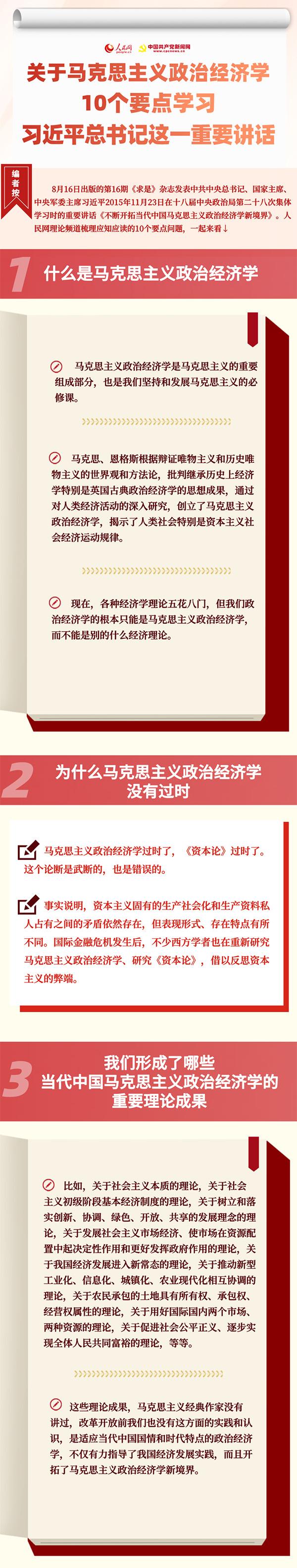 关于马克思主义政治经济学,10个要点学习习近平总书记这一重
