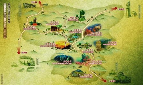 安徽黄山玉屏景区地图_黄山市旅游景点地图查