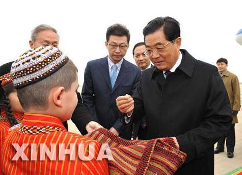 الرئيس الصينى يبدأ زيارة إلى تركمانستان