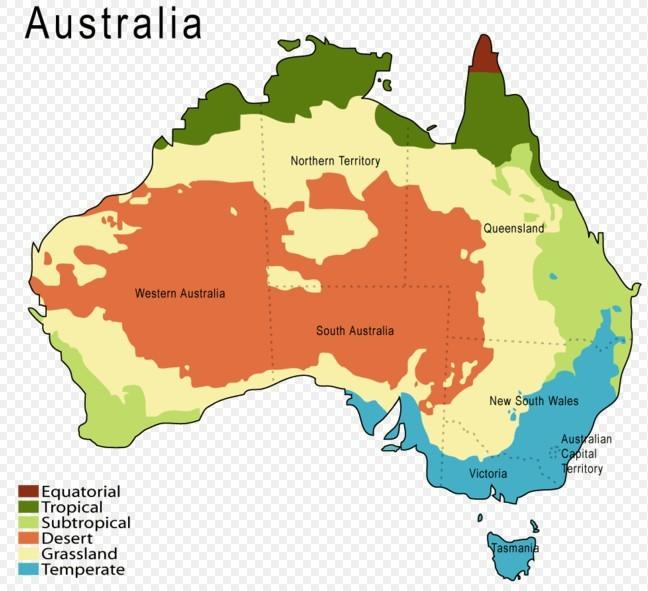 手绘澳洲旅游地图