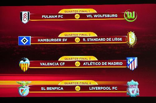 Draw Of Europa League Quarterfinals Comes Out Cctv International