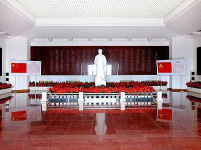红色大理石台阶效果图