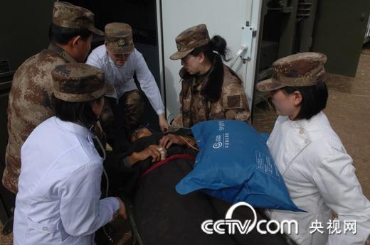 北京军区255野战灾区视频开始接诊医院伤病员方舱编码手机图片