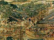 Se exhibe una pintura del emperador Qianlong en el Pabellón de Huellas