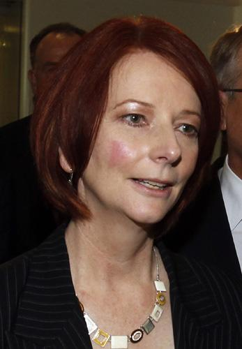 File photo of Australia's new Prime Minister Julia Gillard. Julia Gillard has become Australia's first female Prime Minister after Kevin Rudd stood down as Labor Party leader. Photo wa taken on June 24, 2010(Xinhua File Photo)