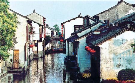 ZhouzhuangisfamousforitscanalsandMingandQingdynastyarchitecture.providedtochinadaily