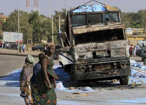 Bombing in Jos, Nigeria on December 24. (Photo Courtesy of Reuters).