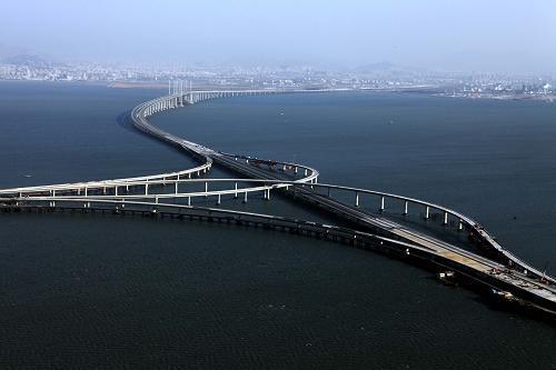 青岛骚_山东青岛将建成世界最长跨海大桥 可横跨英吉利海峡