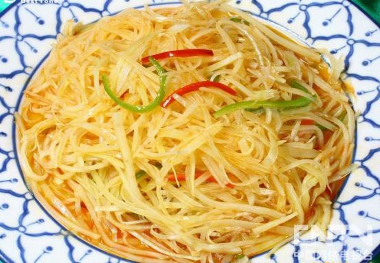 夏日最开胃的一道菜--醋溜土豆丝-山东美食