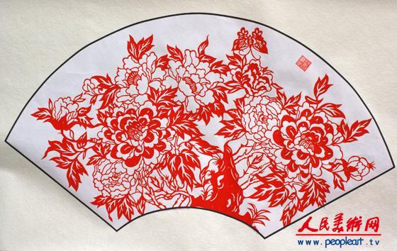 扇形剪纸图案大全内容|扇形剪纸图案大全版面设计