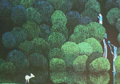既有中国传统的木版水印版画