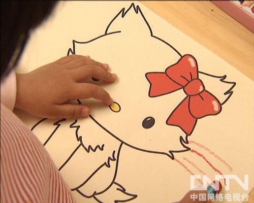 猫咪儿童画图片