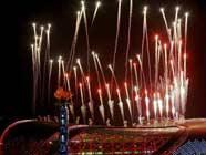 Шоу фейерверков на церемонии открытия 7-й Всекитайской городской спартакиады