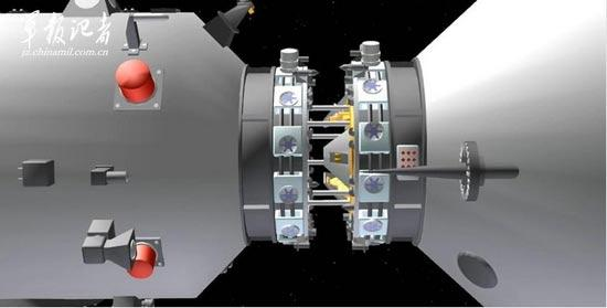 Schematic images: China's first space docking mission CCTV ...