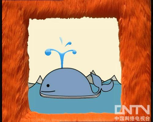 大鲸鱼喷水啦!