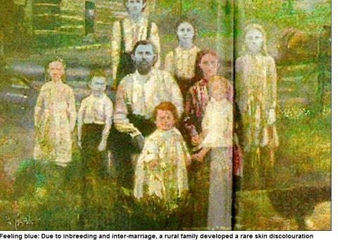 图为福格特家族的画像