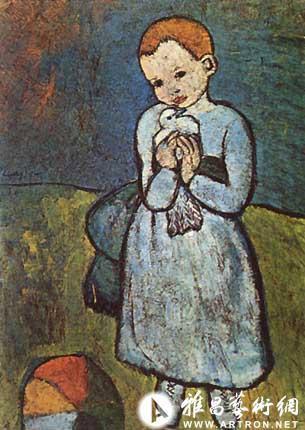 毕加索画作 手捧鸽子的孩子 估价8000万美元