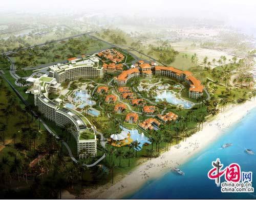 海棠湾的三亚御海棠豪华精选度假酒店即将于2012年开业.
