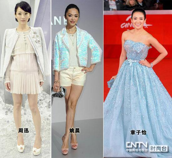胸前的蝴蝶结和大裙摆设计让她即刻化身海洋仙子.