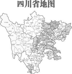"""网友别出心裁玩手绘 四川地图变""""美女""""(图)"""
