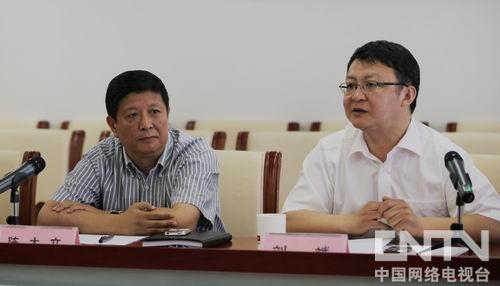北京电视台纪实高清频道陈大立主任与北京市水务局副局长刘斌