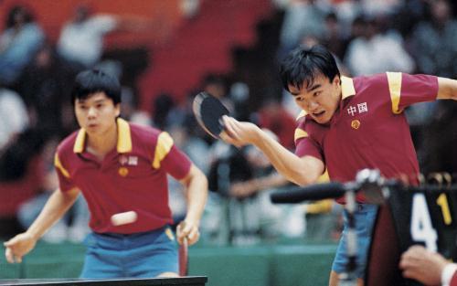 中国奥运金牌录:第19金-陈龙灿/韦晴光(1988年图片