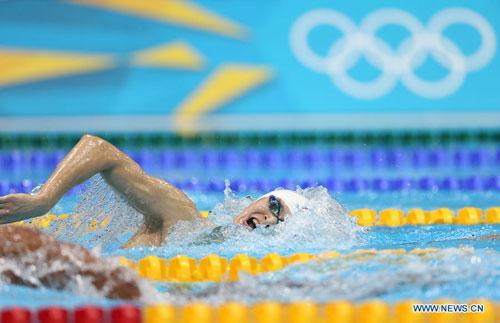 2012 - 1500 m nage libre: deuxième médaille d´or et record du monde