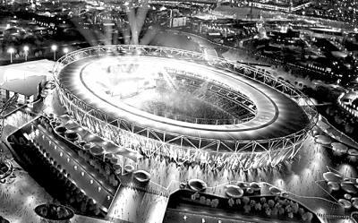 伦敦奥运会场馆无影照明系统效果图