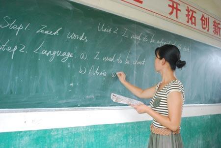 课堂上的王彩红