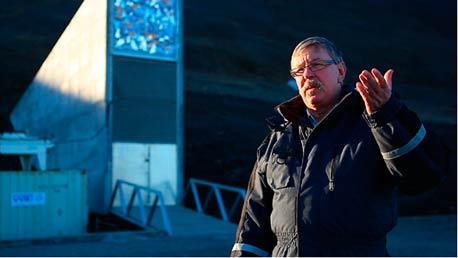 """神秘的""""末日种子库""""入口:瑞典农业大学教授RolandvonBothmer介绍情况"""