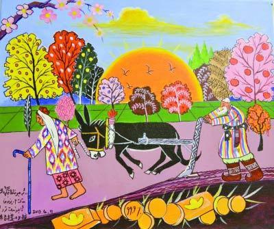 新疆农民画新疆图片