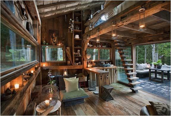 两层木房设计图