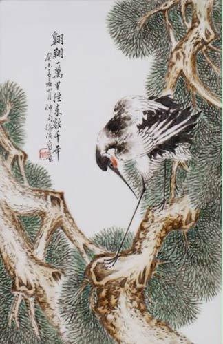 其仙鹤画法,与八友之意程意亭,松树画法,与八友之意刘雨岑如出一辙,从