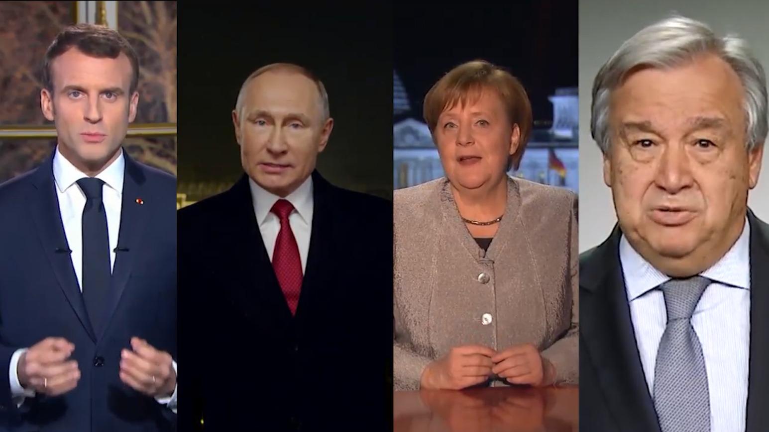 请查收!这是一份来自世界各国领导人的元旦问候