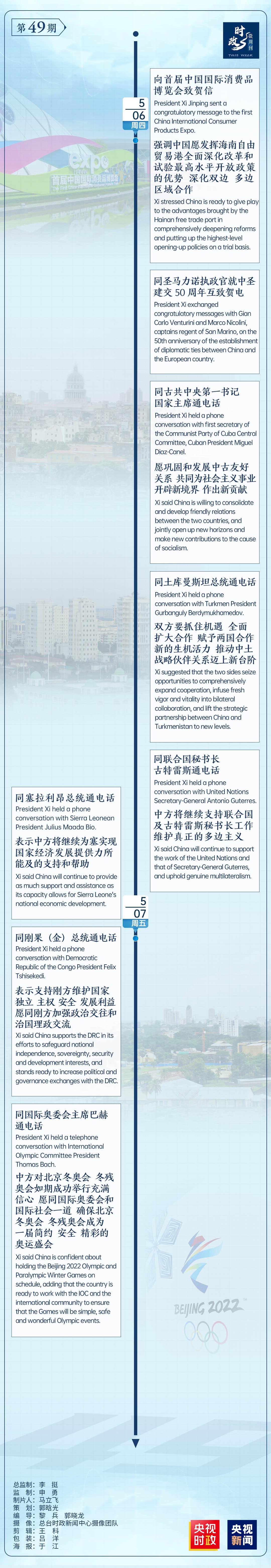 时政微周刊丨总书记的一周(5月3日—5月9日)