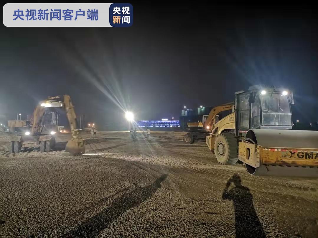 连夜施工!福建漳州台商区集中隔离点开建