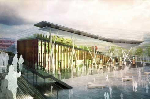 "The New Zealand Pavilion will follow the theme ""Cities of Nature, Living between Land and Sky""."
