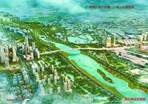 Rendering of Lianshi Lake