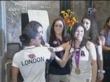 [奥运]美国队体操女队姑娘参加帝国大厦亮灯仪式