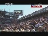 2013年法国网球公开赛男单1/4决赛 特松加VS费德勒 第三盘 20130604