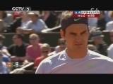 2013年法国网球公开赛男单1/4决赛 特松加VS费德勒 第一盘 20130604