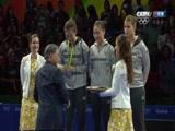[乒乓球]奥运会乒乓球女团决赛 颁奖仪式