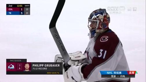 [NHL]常规赛:科罗拉多雪崩VS坦帕湾闪电 第二节