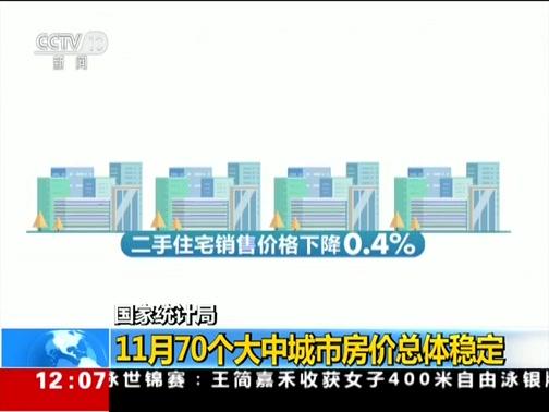 [新闻30分]国家统计局 11月70个大中城市房价总体稳定