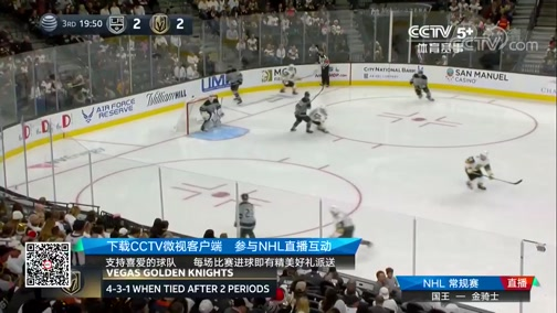 [NHL]常规赛:洛杉矶国王VS拉斯维加斯金骑士 第三节