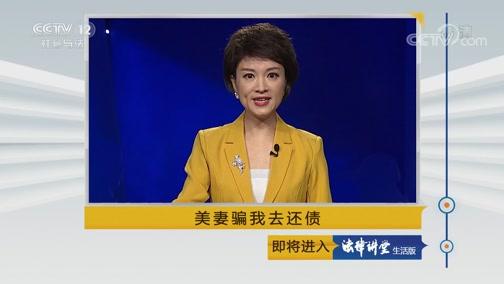 《法律讲堂(生活版)》 20190721 美妻骗我去还债