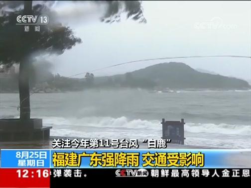 """[新闻30分]关注今年第11号台风""""白鹿"""" 台风""""白鹿""""今晨在福建沿海登陆"""